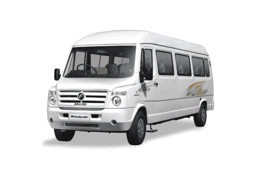 Front picture of Tempo Traveller