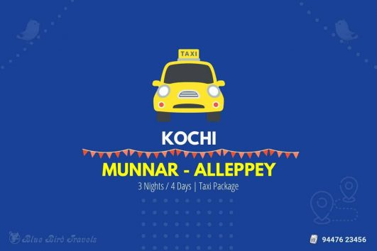 Cochin Munnar Alleppey Taxi (4 Days)(Featured Image)