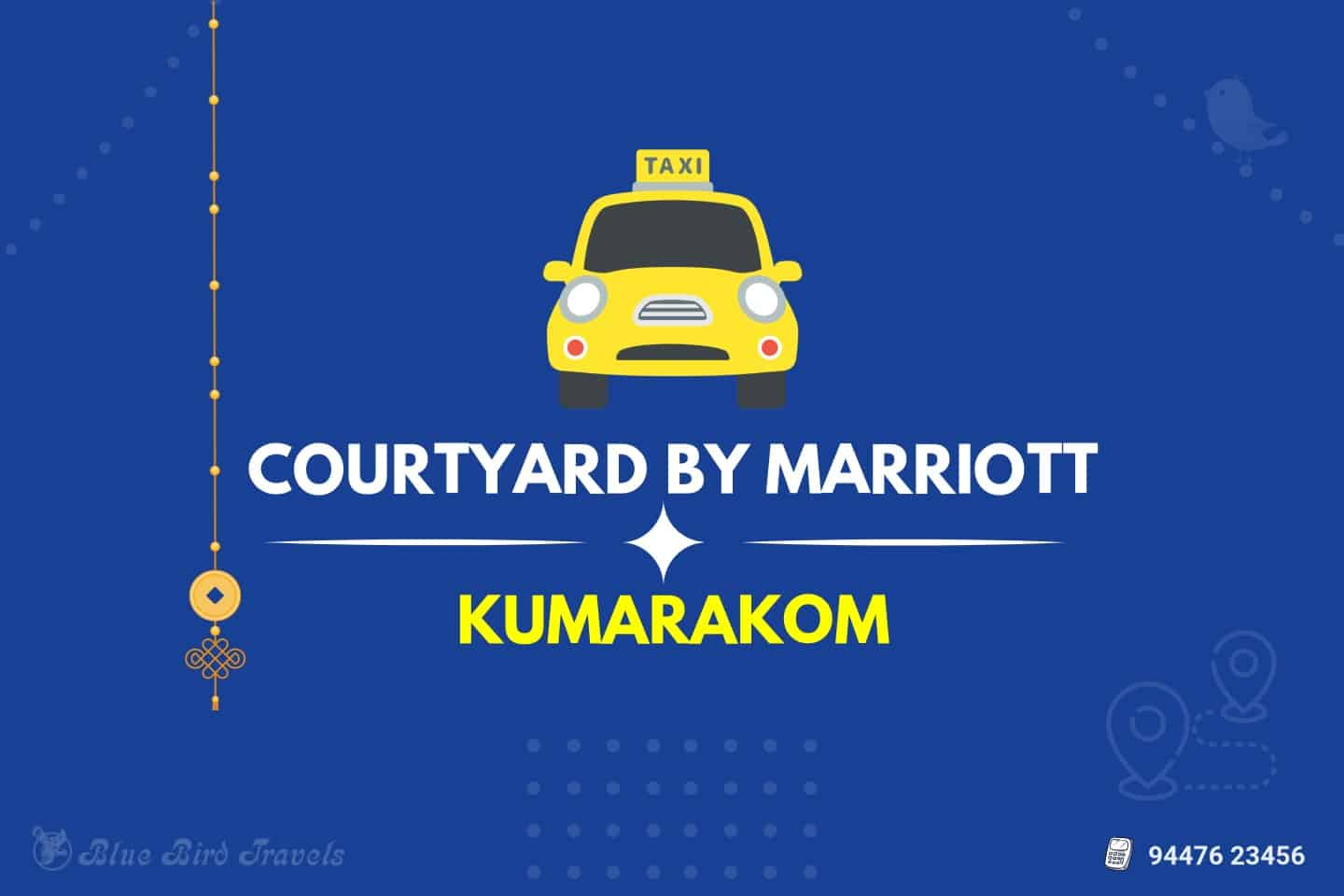 Courtyard by Marriott to Kumarakom Taxi (Featured Image)