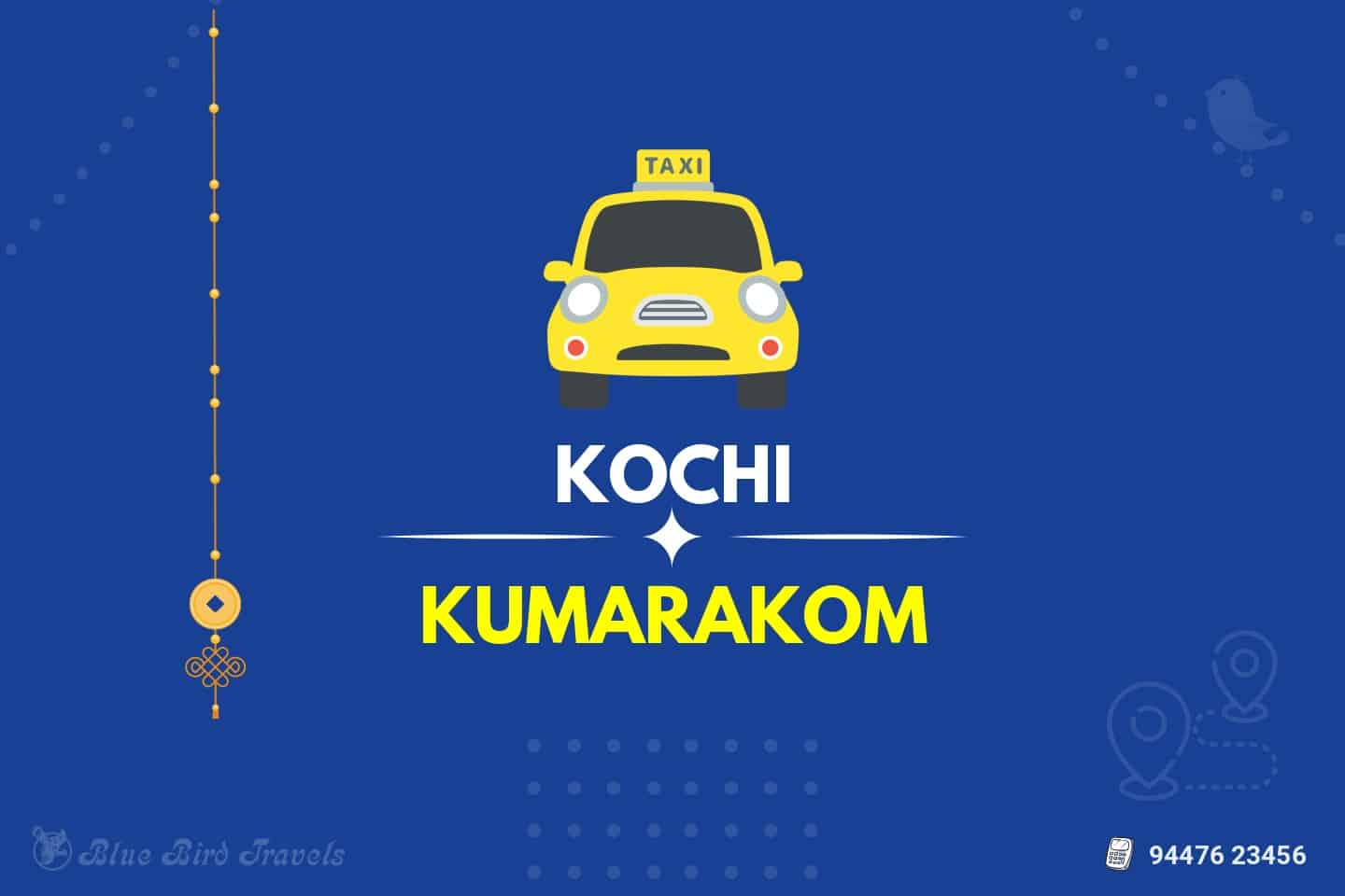 Kochi to Kumarakom Taxi( Featured image)