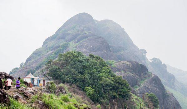 A temple lord Muruga at the top of a hill
