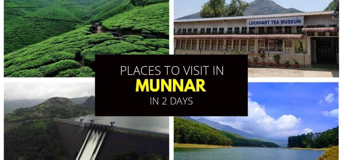 Featured image of places to visit in Munnar in 2 days