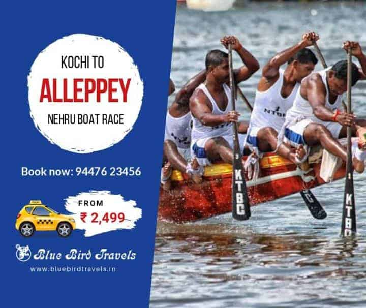 Book taxi from Kochi Airport to Alleppey