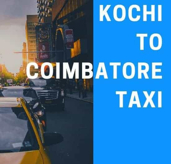 Kochi to Coimbatore Taxi Fare flyer