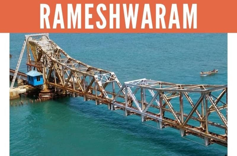 Pamban Bridge across Sea