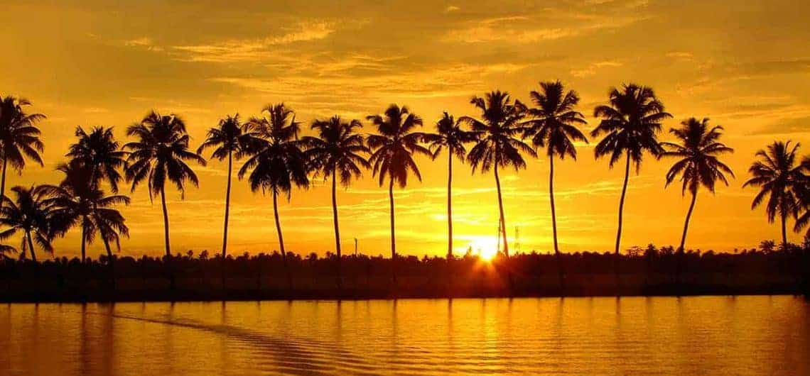 Sunset at Kerala Backwaters