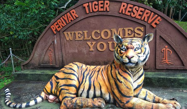 Entry Board of Periyar Tiger Reserve